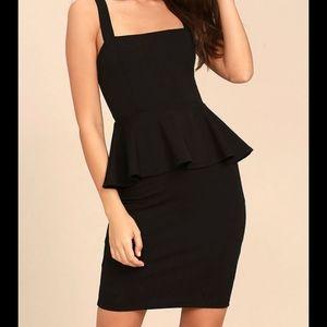 LuLus black peplum dress